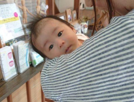 先月出産‼︎ 一ヶ月の赤ちゃん出産報告に来店‼︎